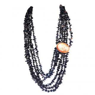 Amedeo Onyx & Skull Beaded Necklace RRP �550.00