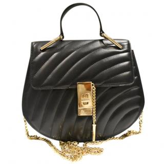 Feelos Sultan black leather/chain strap bag