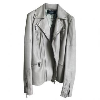 Gucci grey leather jacket