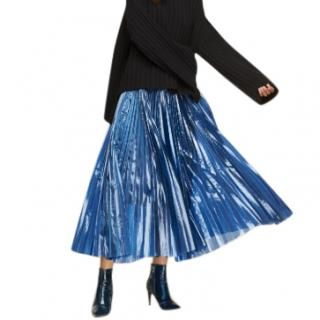 Milly Tech Organza Pleated Skirt