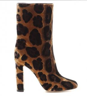 Dolce and Gabbana leopard print heeled boots