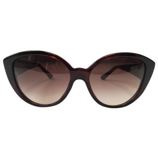 Cartier Oversized Thick Rim Sunglasses