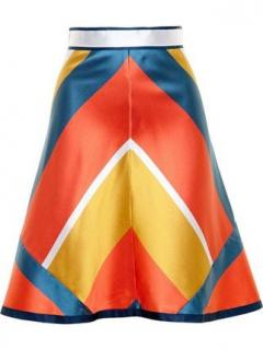 Ostwald Helgason Mikado silk mini skirt