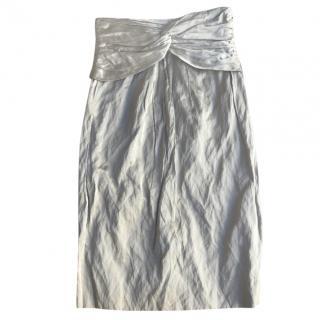 Burberry Gold Pencil Skirt
