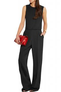 Bottega Veneta Nero Wool Garbadine Jumpsuit