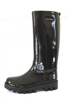 Dolce & Gabbana Black Wellies Rain Rubber Boots