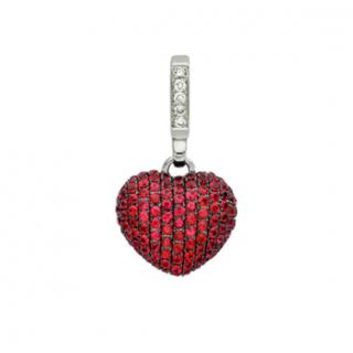 Theo Fennell Ruby and Diamond Heart  Pendant