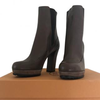 TODS brown heeled boots