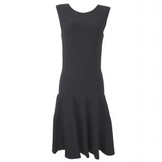Issa London Black Ribbed Stretch-knit Dress