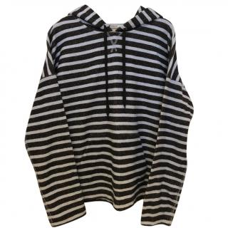 Alexander Wang Striped FrenchTerry Hooded Sweatshirt And Shorts