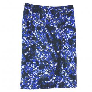 Erdem floral-print cotton midi skirt