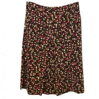 Diane Von Furstenberg Silk Printed Skirt
