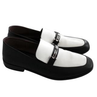Newbark Melanie Black & White Loafers