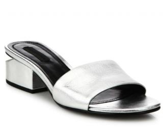 Alexander Wang 'Lou' Metallic Leather Sandalss