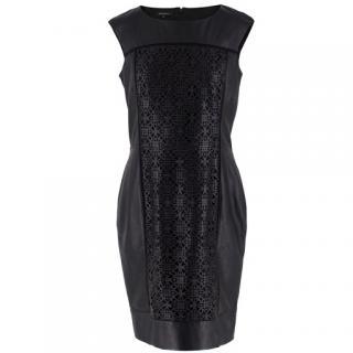 bd7508d1565c Lafayette 148 Laser Cut Leather Dress