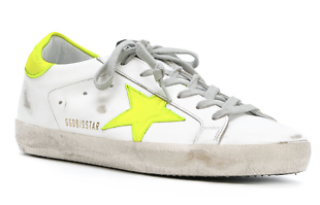 Golden Goose Neon super star trainers
