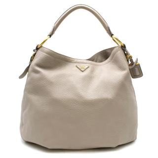 Prada Deerskin Leather Large Shoulder Tote