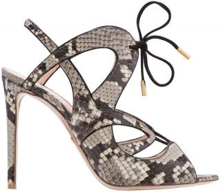 Nicholas Kirkwood snakeskin lace-up sandals