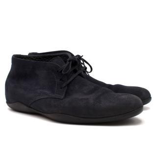 Harrys of London Navy Suede Derby Shoes