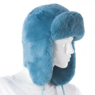 Hockley Pavo Blue Rex Rabbit Trapper Hat
