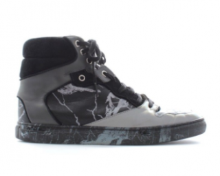 Balenciaga Marble-Effect High Top Sneakers