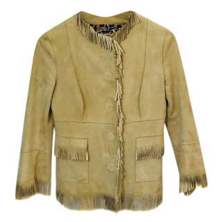Dolce & Gabbana Goat Skin Fringe Jacket.