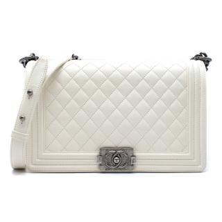 Chanel Large White Boy Bag