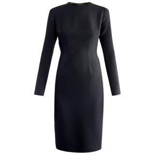 Emilia Wickstead Elliot Pleated Back Crepe Dress