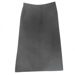 Comme des Garcons Robe de Chambre Wool Grey Skirt