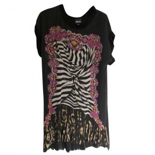 Just Cavalli silk multi-print dress