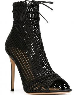 Gianvito Rossi Black 'Marnie' Booties.