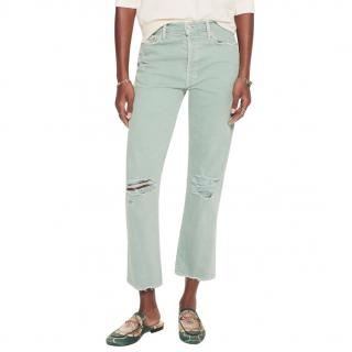 Mother The Tomcat Chew Mint Jeans