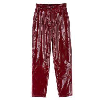 Zeynep Arcay Red Patent Leather Trousers