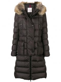 Moncler Chocolate Brown Khloe Padded Coat