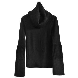 Antonio Berardi black turtleneck wool blend jumper