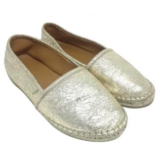 Gucci Girl's Metallic Espadrilles