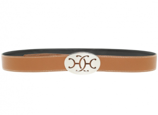 Hermes Double H Buckle Reversible Belt
