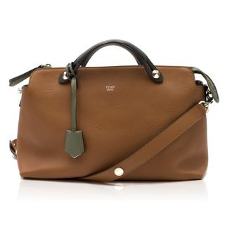 Fendi Large By The Way Brown Leather Boston Bag