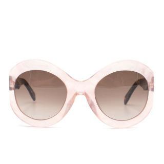 Zanzan La Tabou Pink Tortoiseshell Oversized Sunglasses
