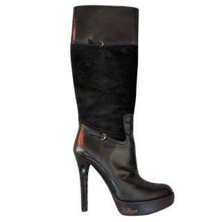 Gucci Pony Hair and Leather Boots