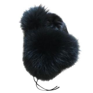 Hockey Fur Black Trapper Hat