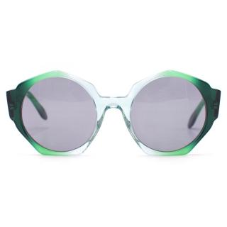 Zanzan Ortolan Green Sunglasses