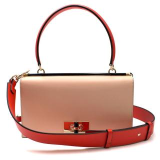 Giorgio Armani Colour Block Leather Handbag