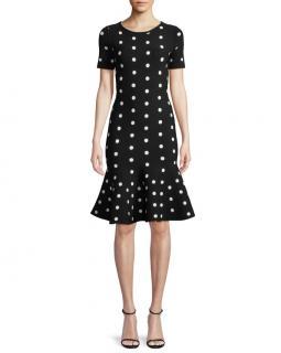 Milly Mermaid Black Polkadot Dress