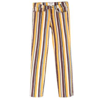 Frame Le High Straight Striped Jeans