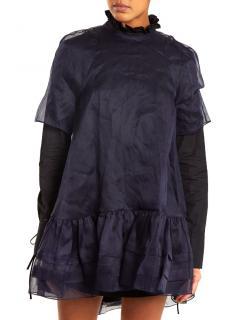 Cecilie Bahnsen Aylin ruffle-trimmed cotton-organdy top/dress
