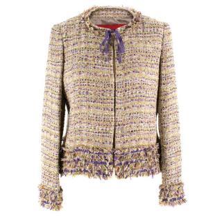 CH Carolina Herrera Woven Tie-neck Jacket