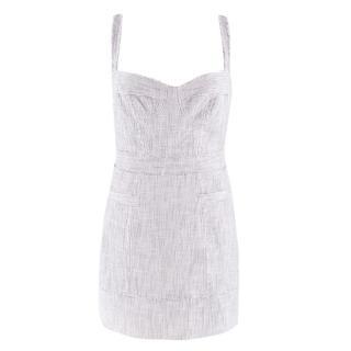 Milly Stone Woven Bustier Mini Dress