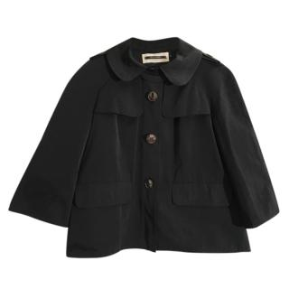 Tara Jarmon black water resistant hip length jacket
