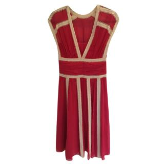 Temperley London Pink Silk Dress